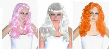 Womens Ladies Long Straight Wig Cosplay Wigs Pop Party Fancy Dress Costume •
