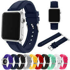 Replacement Silicone Wristwatch Band Bracelet For Apple Watch series 1/2 38/42mm