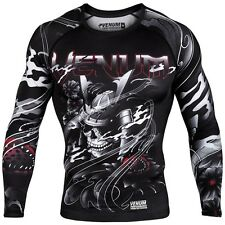 VENUM SAMURAI SKULL LONG SLEEVE RASHGUARD - MMA Bjj muay thai Training Sparring