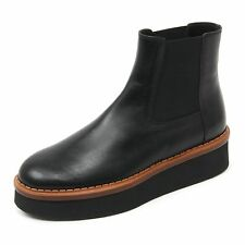 B9652 beatles donna TOD'S T50 3A TRONCHETTO scarpa nero shoe boot woman