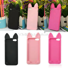 New Cute Cat Ear Soft Silicone Back Case Cover Protector for Apple iPhone 5 5S