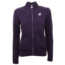 B7792 giacca donna K-WAY THERESE LAMBSWOOL maglione lana viola sweater woman