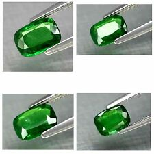 1.03ct 7x5mm Cushion Natural Medium Green Tsavorite Garnet, Tanzania