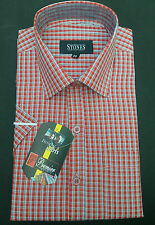 Gents / Mens Quality Formal Shirt (Red Checked) 25