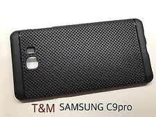 Premium Dotted Black Rubber Soft Back Case Skin Cover For Samsung Galaxy C9 Pro