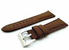 Brown Canvas/Leather Strap/Band Buckle for Officine Panerai Watch 22mm 24mm 26mm