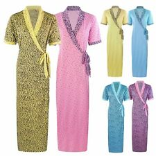 d483a10be9ec NEW LADIES WAFFLE 100% COTTON SUMMER DRESSING GOWN ROBE ANIMAL PRINT