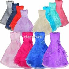 Flower Girl Sleeveless Formal Wedding Bridesmaid Party Pageant Princess Dresses