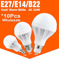 E27 B22 E14 Energy Saving LED Bulb Light 3/5/7/9/12/15W 220V Hotel Room Lamp X10