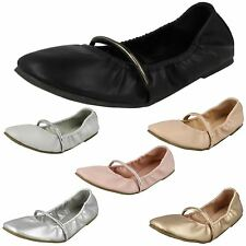 MUJER NEGRO / gris / Rosa / COLOR CARNE Spot On Bailarinas GB Tallas 3-8 f80270