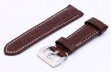 Brown Genuine Leather Strap/Band Buckle Officine Panerai Watch 22mm 24mm 26mm