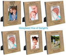 PERSONALISED Wooden Oak Picture PHOTO Frame Gifts Ideas For FATHERS DAY Our 1st