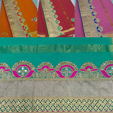 Women's Ethnic Wear Kota Doria Cotton Saree Cloth Border with Gota Patti