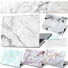 """Classic rubberized White Marble Hard Case For Macbook Air 11""""12""""Pro 13""""15 Touch"""