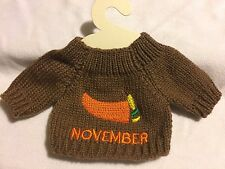 SWEATER FOR TEDDY BEAR OR DOLLS ( SIZE OF THE SWEATER 5in ) NOVEMBER MONTH