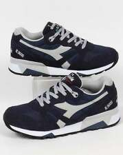 Diadora N9000 NYL Trainers in Navy Blue & High Rise Grey - runners