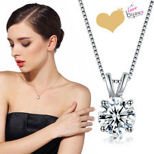 Collana Punto Luce 8mm Argento Ciondolo Diamante Catena Cristallo Donna Regalo