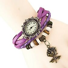 Eleganzza Rose Pendant Casual Bracelet Watches for Women. Women's Watches
