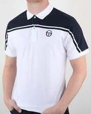 Sergio Tacchini New Young Line Polo Shirt in White & Navy - McEnroe classic