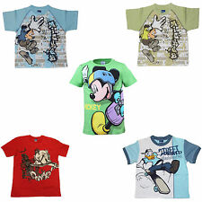 T-Shirts Gr.104-164 Disney Mickey Mouse Donald Duck Skateboard sk8 Jungs