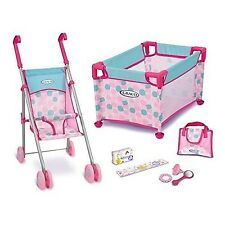 Graco Baby Doll Playset Stroller and Playpen