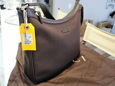 Gucci BOOTS Charm Dark Brown Canvas & Leather Shoulder bag 264219 New/Authentic