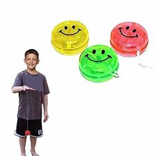 Toy Cubby Kids Party Favor Glittery Yo-Yos Smiley Face Yoyo - 12 Pieces