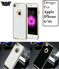 """For """"Apple iPhone 6/6S"""" Luxury Chrome Bumper Soft Silicon Shine Back Case Cover"""