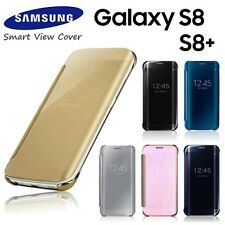 NEW Luxury Mirror Smart View Flip Leather Case Cover For Samsung Galaxy S8 / S8+