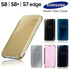 Luxury Mirror Smart View Flip Leather Case Cover For Samsung Galaxy S8 S7 Edge