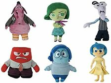 "Disney Pixar Inside Out Deluxe 8"" Plush Set Of 6 Includes: Joy , Bing Bong , .."