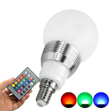 E14/E27 LED Lamp 16 Colours Changing Magic Light Bulb + 24-key Remote Control