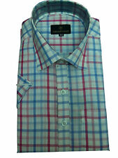 Gents / Mens Quality Formal Shirt (Red GreenChecked) 14*