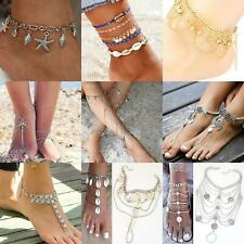 Anklet Boho Festival foot chains beach ankle bracelet coins silver foot chai3
