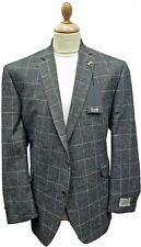 "Scott Check Linen Jacket in BIG SIZES 52"" to 58"" Chest"