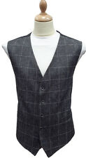 "Scott Check Linen Waistcoat in BIG SIZES 52"" to 58"" Chest"