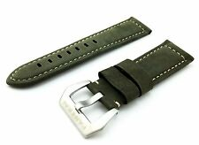 Green Suede/Leather Strap/Band Buckle for Officine Panerai Watch 22mm 24mm 26mm