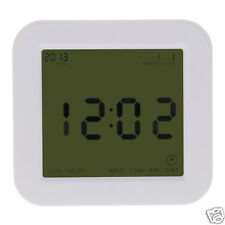 New Creative Four-Sided Digital Time Date Temperature Display Alarm LCD Clock