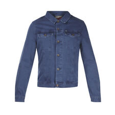 REVIEW Coloured Denim Jeansjacke Baumwolle dunkelblau Herren