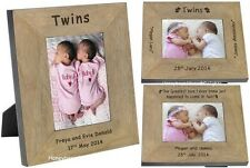 PERSONALISED Twin BABIES Picture PHOTO Frame Gift Ideas For Baby TWINS  Boy Girl