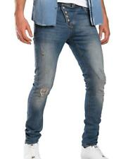 REDBRIDGE Herren Retro Jeans Hose Cool COWBOY Destroyed Röhrenjeans Skinny Slim