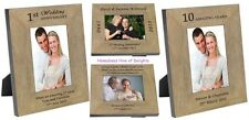 PERSONALISED Wooden Oak Wedding ANNIVERSARY Photo Frames Gift Ideas for COUPLES