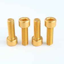 M5 x 15mm Bolt Aluminium Anodised Gold Bolts 20mm Gold Screws M5x15 Cap Head