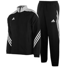 Adidas Kids Boys Tracksuits Full Zip Bottoms Tops Football Sports Black Size