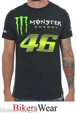VR46 Monster Energy Monza Black Valentino Rossi T-Shirt Casual Top 114604 Size S