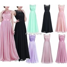 Women Chiffon Tulle Prom Dress Cocktail Evening Wedding Party Bridesmaid Gown