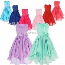 Chiffon Flower Girl Princess Dress Kid Party Pageant Wedding Bridesmaid Dresses
