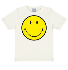Original Cara Smiley, Emoticon, Feliz Camiseta para niño, Blanco - con licencia