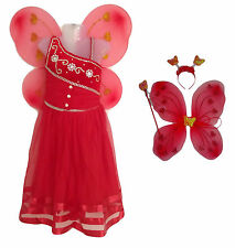 Girl's Christmas Fairy Angel Gown with Butterfly Wings Partywear Dress costume