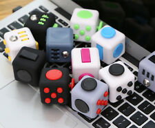 Fun Fidget 6 Sided Cube Adult Anxiety Stress Relief Cube Toys Xmas Gift Cubes UK